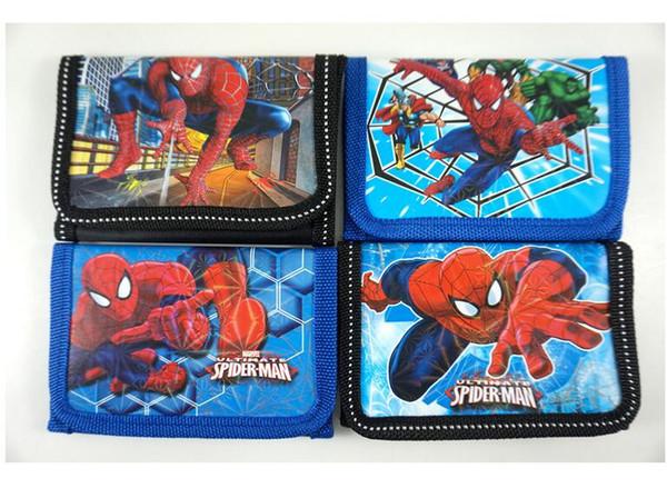 Chaud! Nouveau! 48pcs enfants de garçons de dessin animé super héros spiderman enfants divers stocking filler portefeuille bourse sac à main sac cadeau populaire