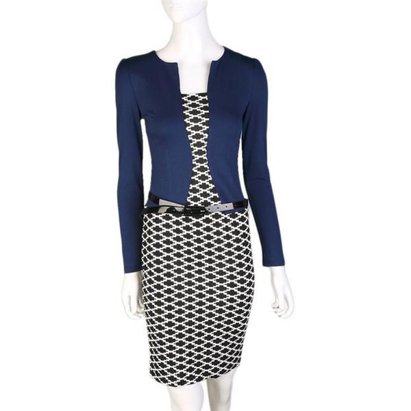 New Fashion Autumn Style Women Two Piece Dress Elegant Long Sleeve Pencil Office Wear Women Work Outfits dress set
