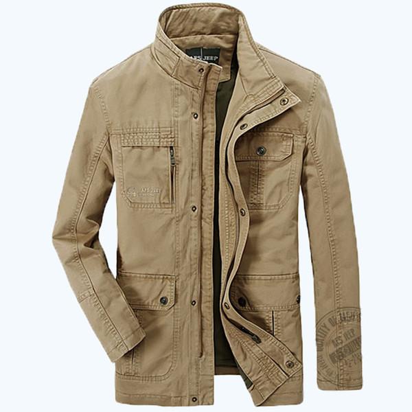 AFS JEEP marca Mens buona qualità Primavera autunno giacche da uomo cotone militare esercito soldato lavaggio giacca di cotone vestiti uomo 160
