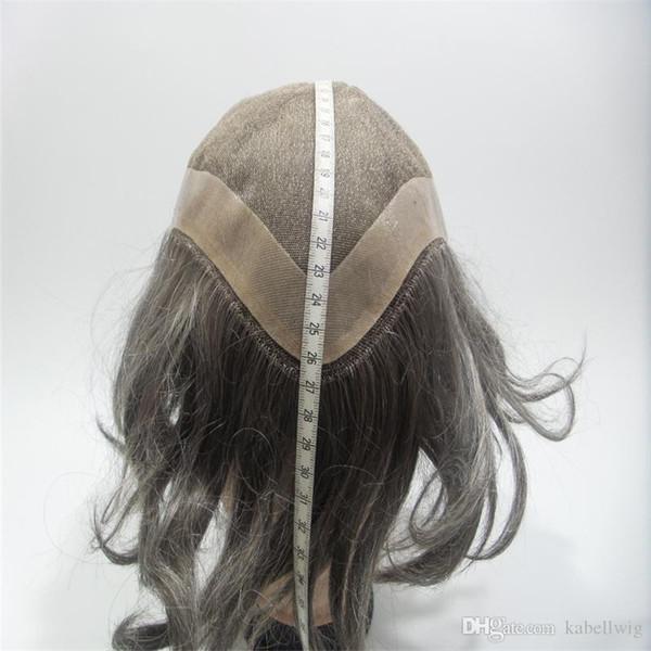27cm * 23cm Straight PU WIGS Full Of My Simulation cuero cabelludo pelucas llenas del cordón que hacen punto la densidad 130% de la peluca pelo humano brasileño 100% libertad