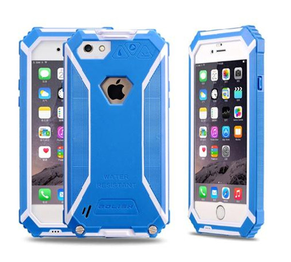 For iphone 6 6S 6plus BOLISH New Waterproof, dustproof, IP6 shockproof Hard Phone Fitted Case Cover for iphone6 6S plus DHL SCA123