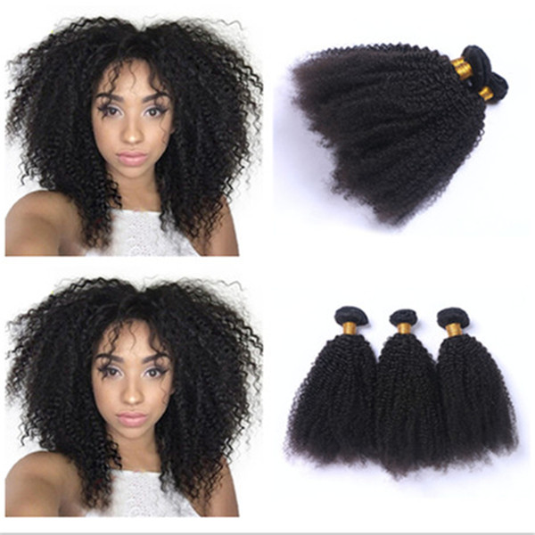 Hot Sale Cheap Kinky Curly Human Hair Bundles 3Pcs 8A Mongolian Afro Kinky Curly Hair Extensions For Black Woman 4Pcs/Lot