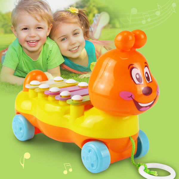 Toy Cartoon Metal ABS Caterpillar Glockenspiel Kids Toy Musical Instrument Baby Infant Playing for Children