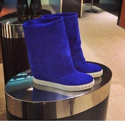 2016 Popular Brand Design Knee High Women Boots Spring Fall Suede Leather Wedges Boots Motorcycle Shoes Woman Drop Shipping