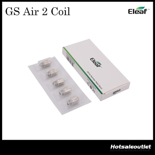 top popular Authentic Eleaf GS Air Atomizer Head Pure Cotton Head 0.75ohm Replacement Coil Fit GS Air Atomizer GS Air 2 Atomizer 2021