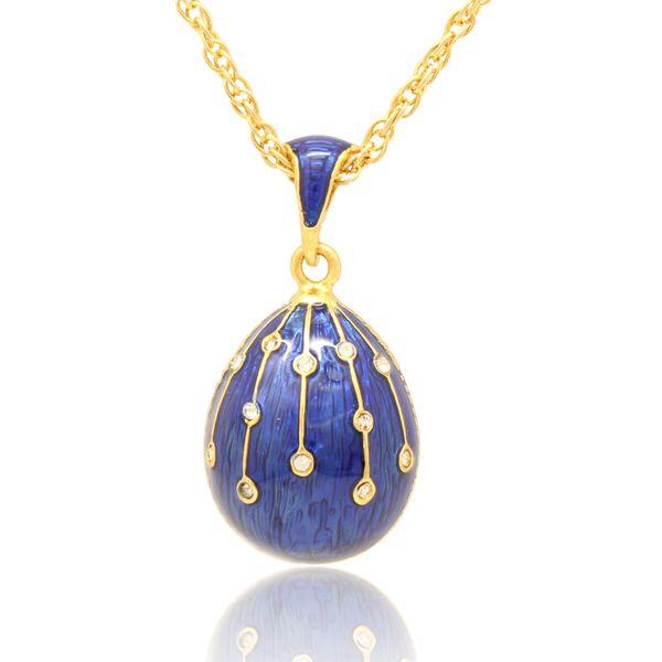 Altın kaplama el renk Emaye kristal Paskalya Günü için Paskalya Faberge Yumurta Paskalya Yumurta Kolye Kolye