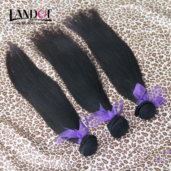 Класс 10а бразильский прямые волосы 3/4 пучки необработанные перуанский Индийский