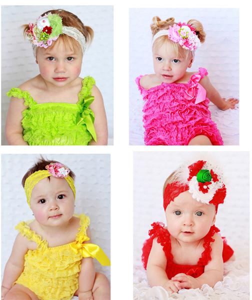 27 Colori Neonato Pagliaccetto Pizzo Infant Toddler Ruffle Pagliaccetto Del Merletto Ruffled Pizzo Pagliaccetti arco tuta infantile tuta