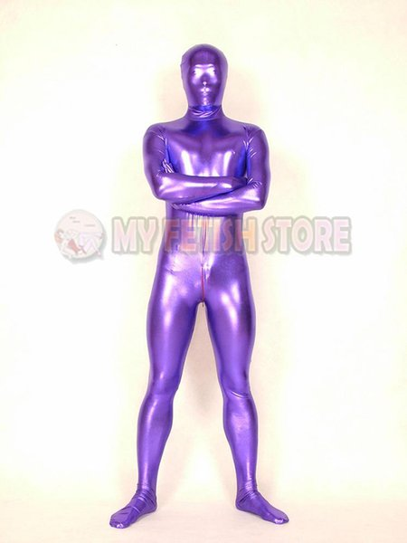 (SHM03)Full Body Shiny Metallic Shiny Tights Unisex Original Bodysuit Fetish Zentai Suits Halloween Party Costume