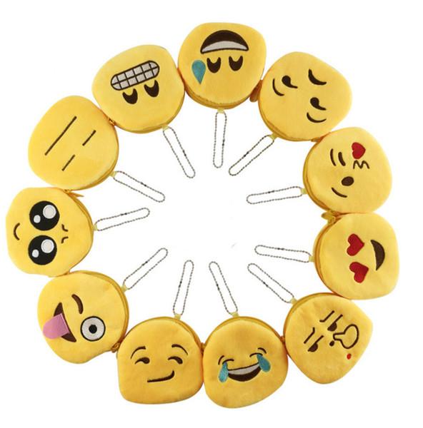 Neue Ausdruck Geldbörsen Nette Emoji Münze Brieftasche Plüsch Anhänger Frauen Mädchen Kreative Chirstmas Geschenke B0768