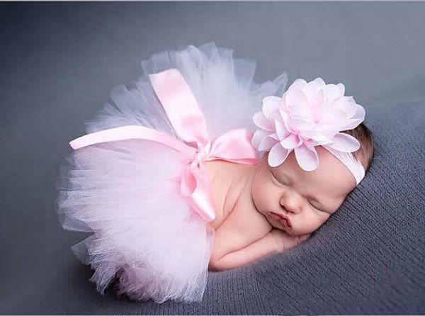 Drop shipping !! Newborn Tutu Clothes Skirt Baby Girls Ball Gown,baby girls bubble skirt + Headbands,Girls Bubble Skirt 2pcs BN