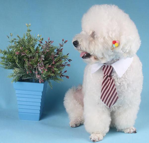 Dog Supplies, Adjustable Dog Cat Pet Wedding Gentleman Neck Tie, Grooming Tie Necktie, Dog Striped Bow Tie Collar (2 Size)