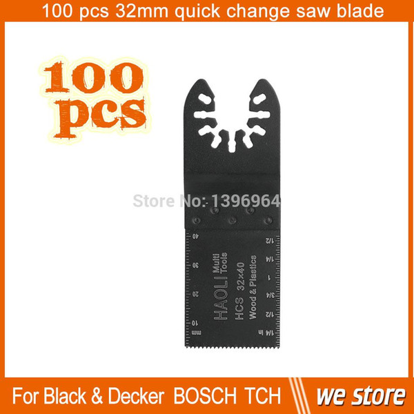 best selling 100 pcs 32mm quick change HCS oscillating tool saw blade for wood,drywall,Soft plastics , for most Famous Brand Machines