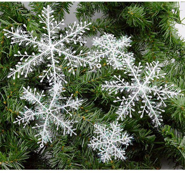 22cm Snowflake Ornament Xmas Christmas Classical Tree Decorations Home Party Decor White Color 30 pcs/lot New