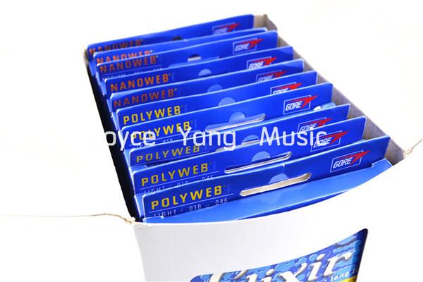 Wholesale- 12 Sets of Elixir NANOWEB/POLYWEB Electric Guitar Strings Anti-Rust Plain Steel Strings Super Light Medium