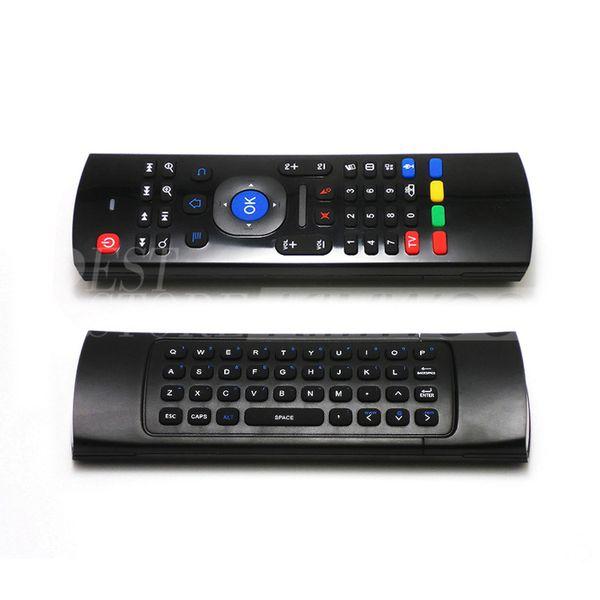 X8 Mini Wireless Keyboard Air Mouse Remote Gyroscope Sensors MIC Combo MX3-M MX3 MXQ M8 M8S M95 S905 STB Gear Android TV BOX
