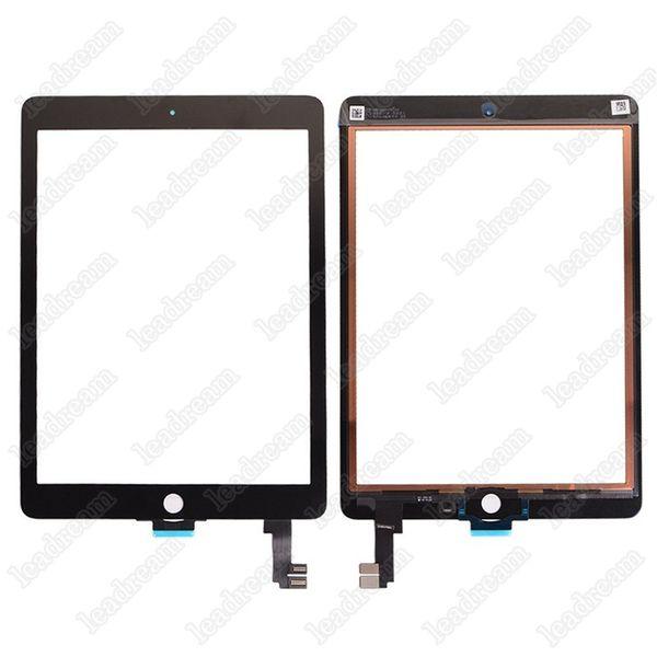 20 pcs oem tela de toque do painel de vidro digitador para ipad air 2 ipad 6 balck e branco livre dhl