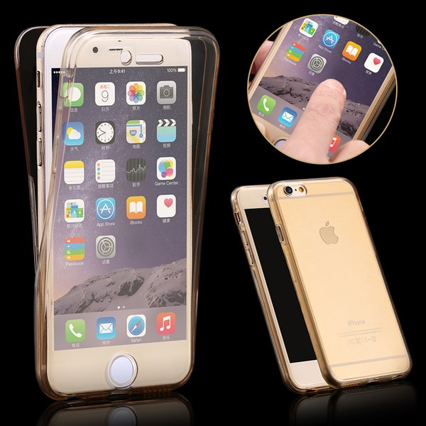 the latest 60b6d dff80 360 Degree Case For Iphone 7 5 5s 6plus Front Back Combo Protective Soft  Tpu Clear Transparent Cover For Iphone5 5s Se I6 6s Smart Touch Cell Phone  ...