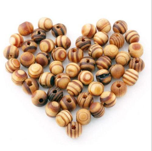 top popular 1000pcs 8MM Wood Beads Spacers Loose Beads Necklace Bracelet Charms For Jewelry Making 2021