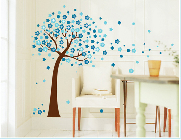 2016 home decor decals Poster house Sticker Removable vinyl wall stickers blue Peach Tree large Wall paste