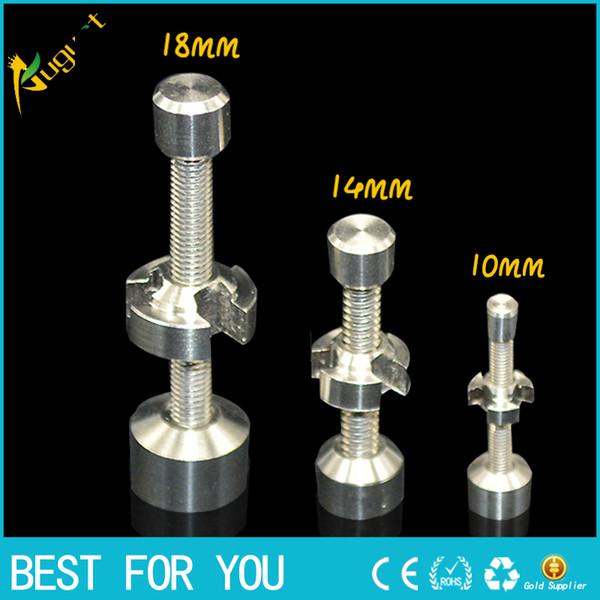 Titanium Nail 10mm 14mm 18mm pipa de metal para fumar Haga clic en Vape para Incienso Globe Dab Oil Rig nail quartz cerámica nail titanium nail