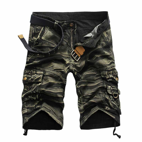 best selling Wholesale-2016 New High Quality Men's Camouflage Casual Cargo Shorts  Camo Multi-Pocket Outdoor Shorts For Men Pantalones Hombre