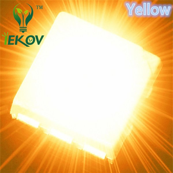10000pcs PLCC-6 5050 Yellow LED SMD highlight light-emitting diodes 600-900mcd High Quality SMD/SMT Chip lamp beads DIY Wholesale