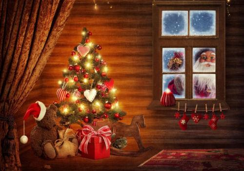 7X5FT Vinyl Custom Photography Backdrops Prop Christmas Background FEB-03