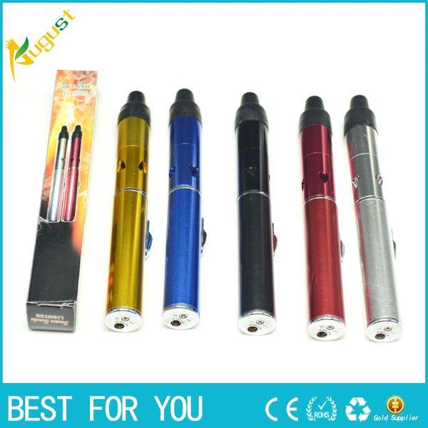 Click N Vape sneak Vape встроенный Wind Proof Torch Lighter розничная коробка для курения металлических труб Травяной портативный испаритель для сухого травяного табака