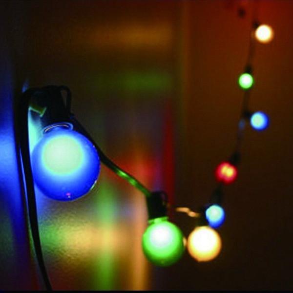 Edison2011 100pcs E27 LED Light Bulb 1W Coloured Light G45 Round LED Christmas Bulbs Decorative Light Bulb