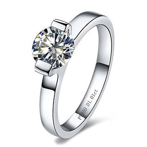 Free Shipping Classic Channel Setting 1.0 CT SONA Synthetic Diamond Engagement Rings For Women Fine 925 Silver With 18K Gold Plated Jewelry