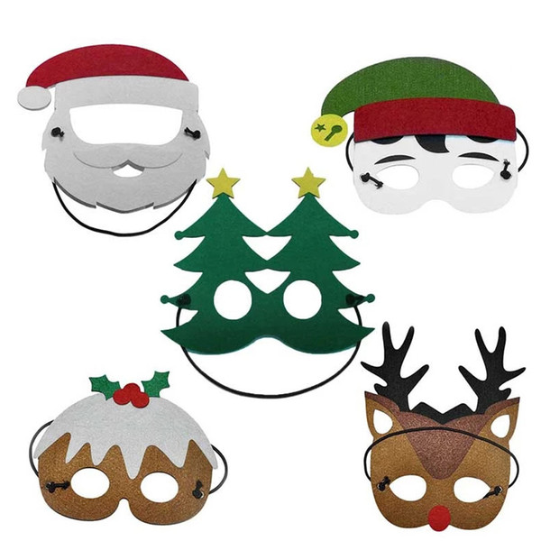 Christmas Party Images Cartoon.2019 Merry Christmas Santa Claus Kids Costume Masks Halloween Christmas Party Cosplay Toy Cartoon Snowman Spirit Reindeer Fancy Dress Party Mask From