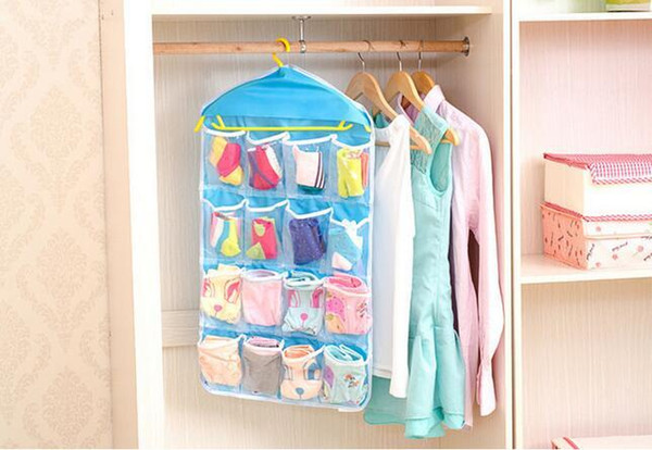 Nuevo llega calcetines gruesos multifunción claros ropa interior cosmética clasificación bolsa de almacenamiento puerta colgante de pared armario organizador bolsa cajas organizadora