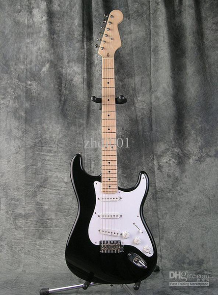 top popular Custom Shop Eric Clapton Signature Black Electric Guitar BLACKIE Strat Ocaster Electric Guitar Maple Fingerboard Dot Inlay White Pickguard 2021