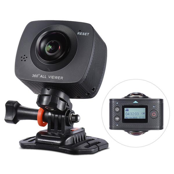 Cámara panorámica de 360 grados VR de doble lente 1920 * 960P HD 8MP Cámara de acción 360 con 220 grados de ojos de pescado Lente cámara de video