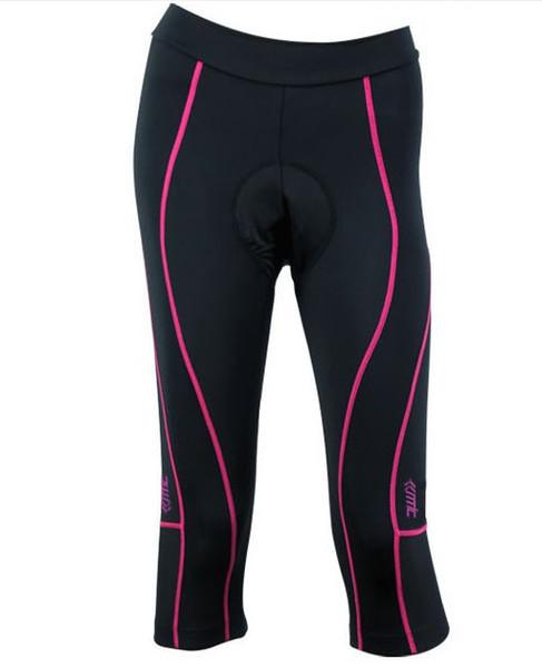 SANTIC Deportes al aire libre para mujer, mujer, ciclismo, 3D, acolchado, bicicleta, ropa, bicicleta, pantalones capri, medias, nuevo, Comfortabe