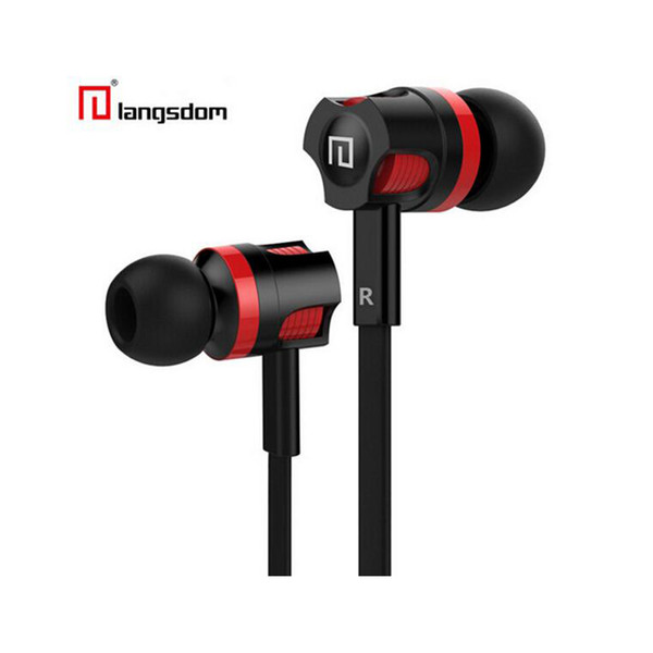 Stereo Bass In-ear stereo Earphones headsets with mic for smartphones With retail packing Langston JM26