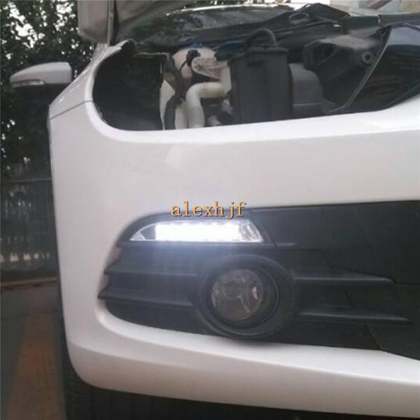 Feux diurnes Super Bright LED DRL avec clignotant jaune pour VW scirocco 2008-203, remplacement, installation non-destructive