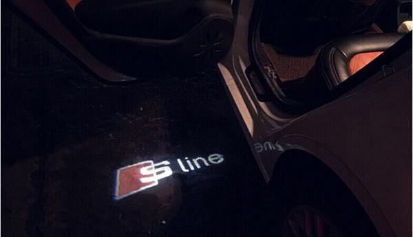 LED Car Door Welcome Light Laser Car Door Shadow led Projector S line Logo For AUDI A3 A4 A5 A6 A7 A8 R8 Q5 Q7 TT Car Styling