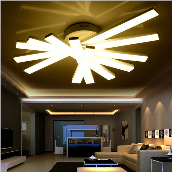 Modern Minimalist Led Ceiling Lights Acrylic Ceiling Fan for living Room Bedroom 4/5/6 Heads Lighting Fixtures