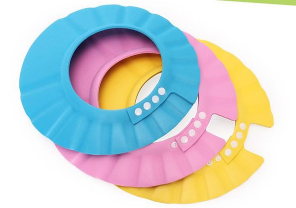 2018 3 Colors Safe Shampoo Shower Bath Protection Soft Caps Baby Hats For Kids 7-12 months