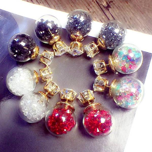 10pairs Crystal Earring Studs Korean Style 2018 Fashion Stud Earrings for Women Wholesale Diamond-jewelry Ear Rings Elegant Mix Gift Ideas