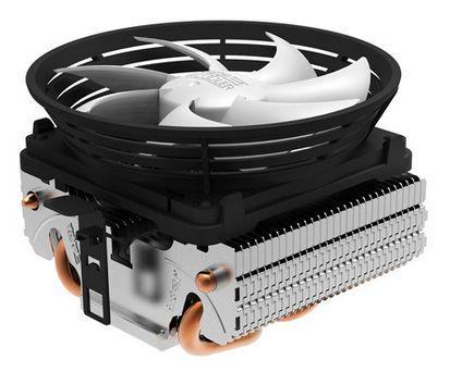 PCCOOLER 1pcs 10cm fan 2pcs heat pipes CPU cooler LADYBUG Q102 (QIXINGPIAOCHONG) for LGA1155/1156/775/AM3/AM2/AM2+/FM1/FM2