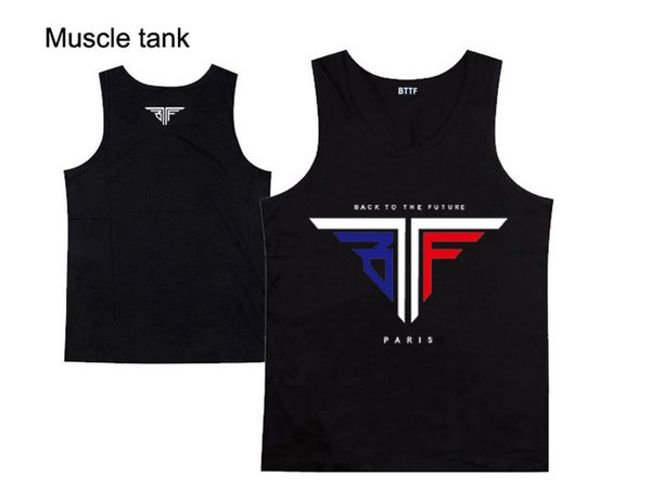 2018 new style casual hip hop high quality bttf men's muscle tank tops for men and women diamond supply free shipping