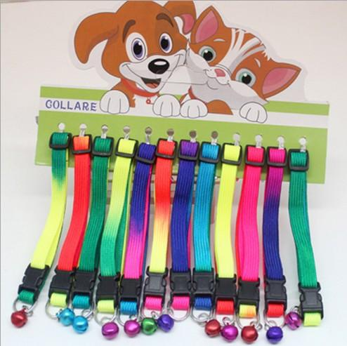 top popular 2016 New Style Adjustable Pet Dog Cat Common Collar Breakaway Safety Buckle Cat Nylon Solid Candy Color Collar Puppy Collar 2020