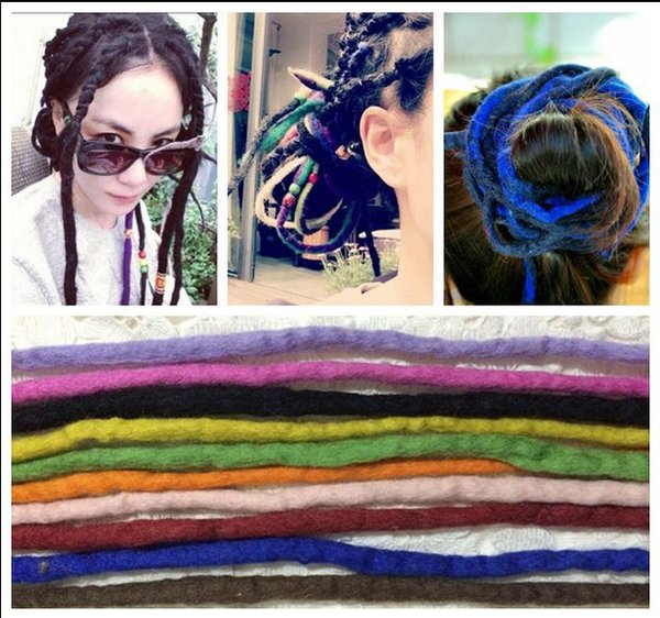 top popular Africa Style Dreadlock Colorful Wigs Tangle Dreadlock African Hairpiece Fake Hair Accessories Plait Single Color Mixed Color 2019