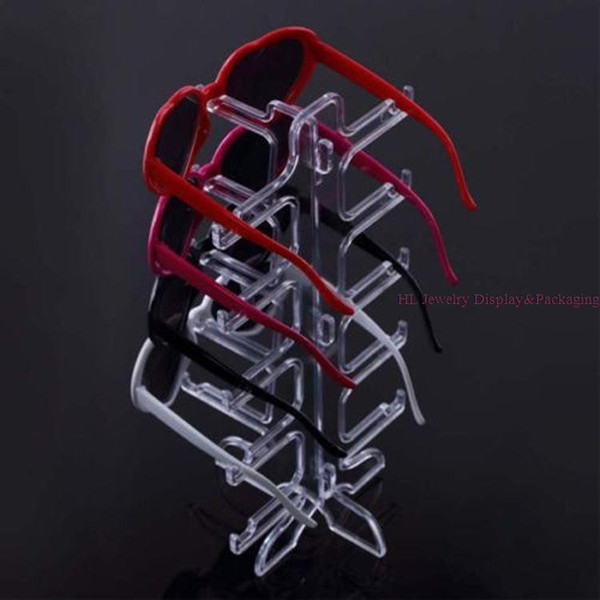 Free Shipping Fashion 1pc/lot Portable 5 pairs Sunglasses Showing Rack Holder Frame Display Stand glasses Show Stent