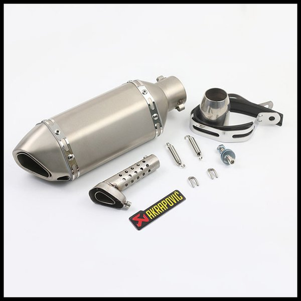 310 mm Universal Motorcycle Pipe Exhaust Silencer Slip On With Removable DB Killer 38-51MM For CBR125 cb600 fz400