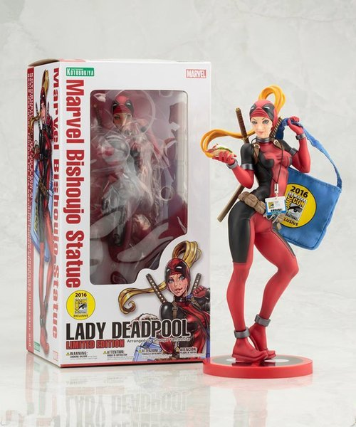 Crazy Toys X-men Lady Deadpool Bishoujo Mujer Muerte Cetting Miss San Diego Estatua Muñeca PVC Figura de acción de colección Modelo de juguete 23 cm