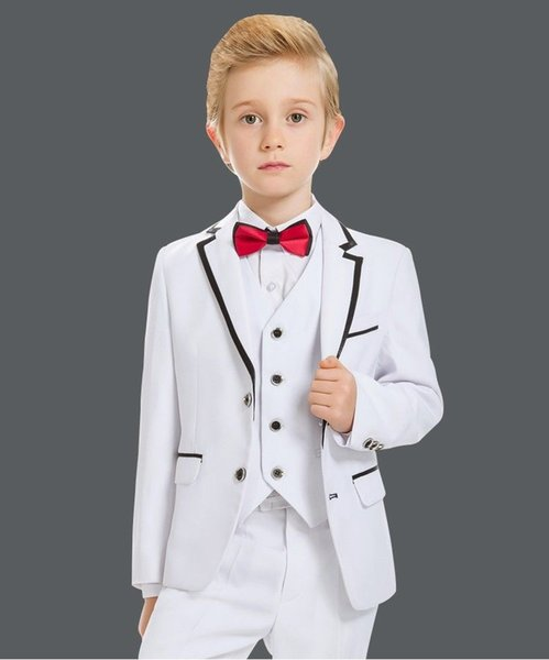 3pc Shirt Brown Pants Necktie Set Baby Toddler Kids Boys Wedding Formal Suit S-7